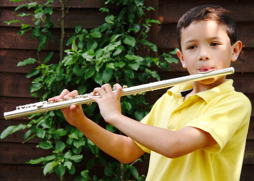Boy Flute Lesson at Music Makers Calgary