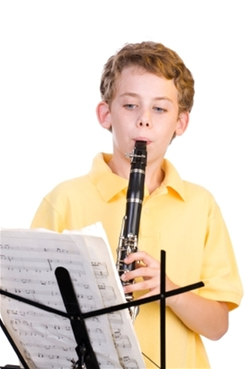 Boy Playing The Clarinet - Music Makers Calgary